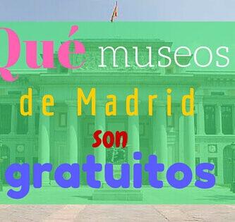 museos de Madrid gratis